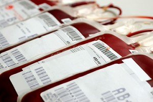 Human blood in storage