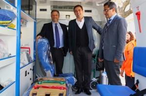 Rubinstein entrega la ambulancia
