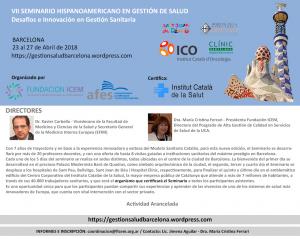 seminario barcelona 2018
