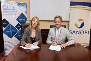 Graciela Fuente (SAD) y Sebastien Delarive (Sanofi)
