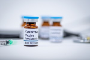 Illustrative vial of coronavirus vaccine