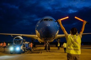 llegada del vuelo